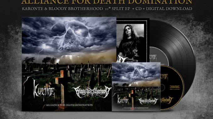 Alliance for death domination Split - KARONTE - BLOODY BROTHERHOOD